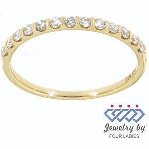 Natural Diamond Wedding Fine Band 14K Yellow Gold